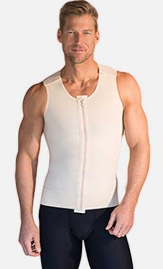 Canotta per liposuzione uomo con zip