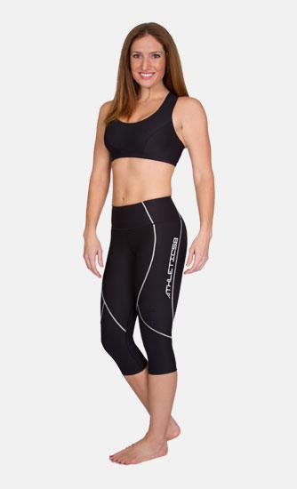 Pantaloni sportivi sotto al ginocchio donna